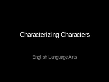 Characterizing Characters