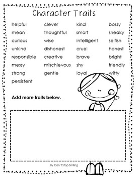 Characters Reading Unit with Mini Lessons