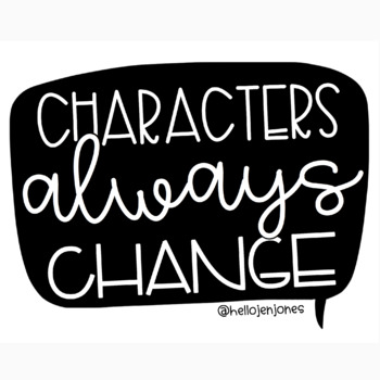 Characters Always Change Poster