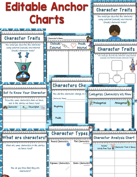 Characters: Editable Digital Anchor Charts