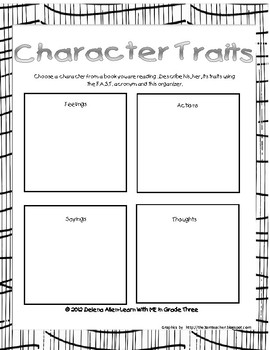 Characters FAST organizer