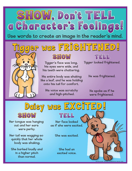 """Characters' Feelings: Show Don't Tell - 8½"""" x 11"""""""