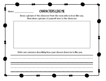 Characters Like Me Graphic Organizer
