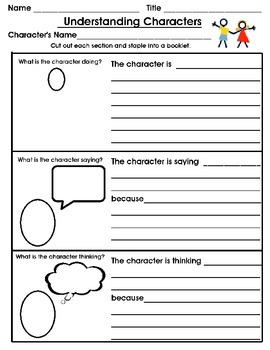 Characters Minibook & More Packet