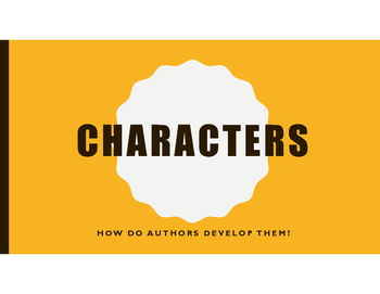 Characters PowerPoint