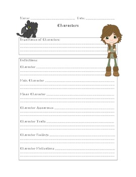 Characters PowerPoint Form