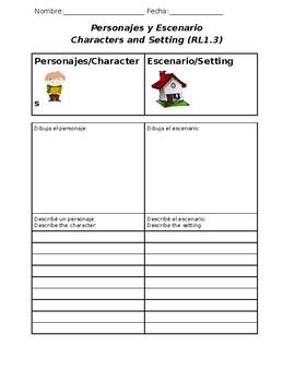 Characters & Setting Bilingual