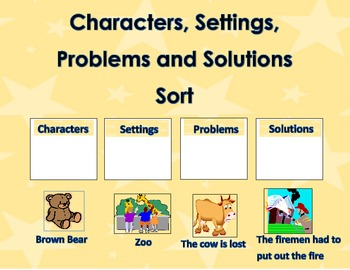 Characters, Setting, Problem, and Solution Story Element S