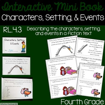 Characters, Setting, and Events Interactive Mini Book {RL.4.3}