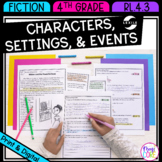 Characters, Setting, and Events in Stories & Drama 4th Grade RL.4.3