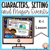 Characters, Setting, and Major Events {RL.K.3; LAFS.K.RL.1.3}