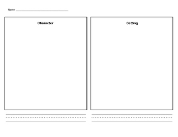 Characters Setting and Nouns