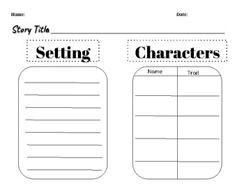 Characters & Setting graphic organizer