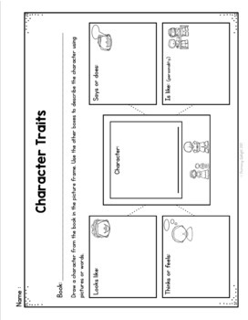 Reading Comprehension Graphic Organizers: Characters, Settings, and Major Events