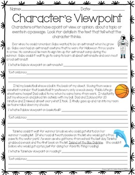 Character's Viewpoint Activity