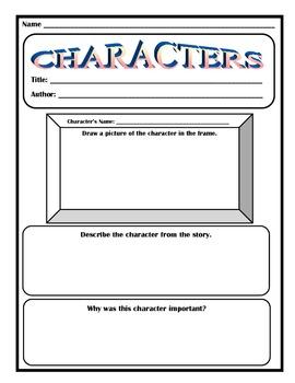 Characters Worksheet