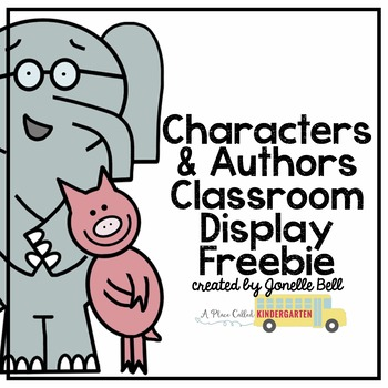 Characters and Authors Classroom Display