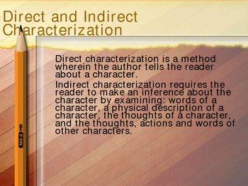 Characters and Characterization: Identifying Characteristics