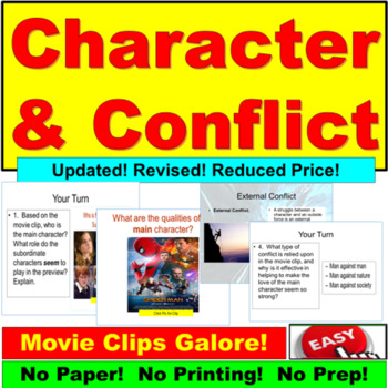 Characters and Conflicts PowerPoint Lesson