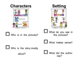Characters and Setting Detective Checklist