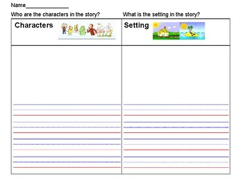 Characters and Setting Graphic Organizer