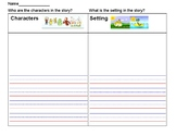 Characters and Setting Graphic Organizer Primary Narrative