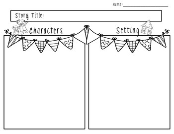 Characters and Setting Graphic Organizer Set