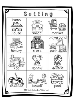 Characters and Settings For Writing