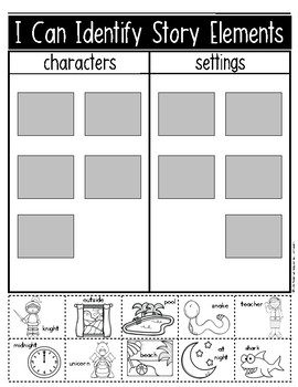 Characters and Settings {Made Easy with Pictures} Kindergarten & First Grade