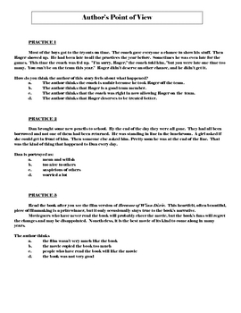 Characters, author's point of view, specific details plan