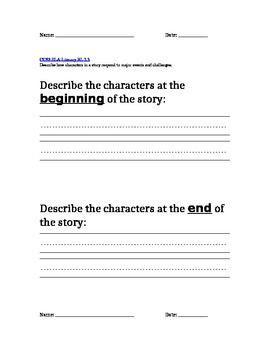 Characters description at the beginning and end of the story