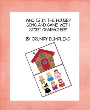 Characters from Stories - Song and Guessing Game (Stick Puppets Included)