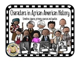 Characters in African American History Timeline, Quotes and Primary Source Cards