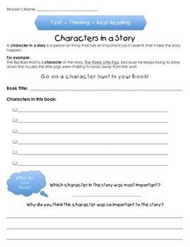 Characters in a Story - For Any and All Levels of Stories