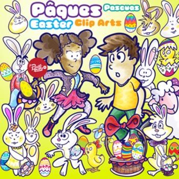 Easter Characters - Clip Art - Personnages de pâques