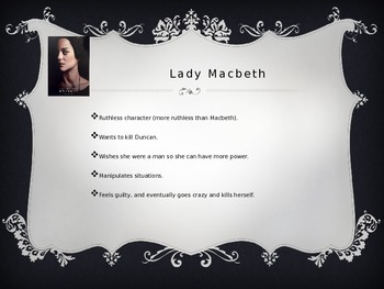 Characters of Macbeth powerpoint