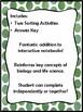 Characterstics of Life / Biotic & Abiotic Factor Sorting Activities *INB*