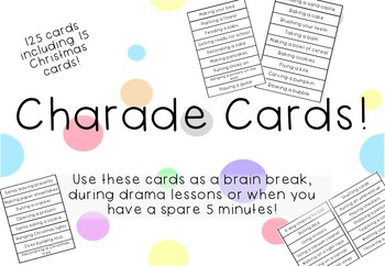 Charade Cards - Drama and Brain Break