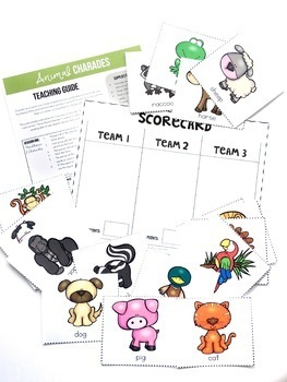 Charades BUNDLE, speaking and listening activities
