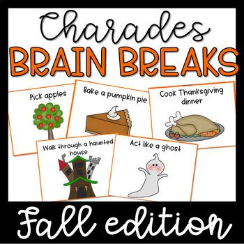 Brain Breaks Activity Cards- Charades Fall