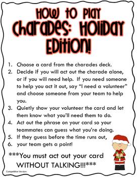 Charades: Holiday Edition!