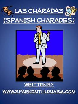 Charades Spanish Vocabulary Game / Family, House, Foods, Drinks