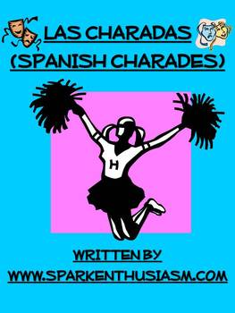 Charades Spanish Vocabulary Game / Sports, Prepositions, Daily Routine