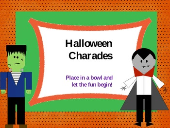 Charades for Halloween