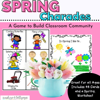 Spring Charades Game Dollar Deal