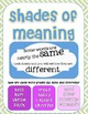 Charades of Meaning - Four FUN Shades of Meaning Activitie
