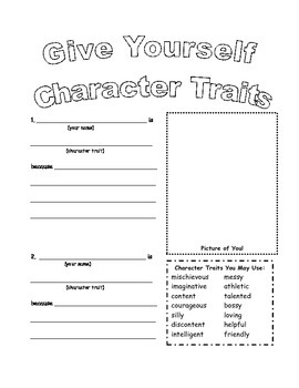 Charater Traits Packet