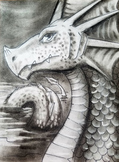 Charcoal Dragon step by step