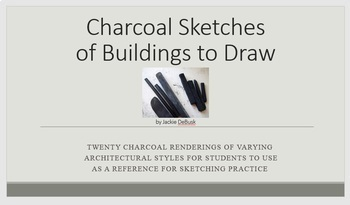 Charcoal Sketches of Buildings to Draw
