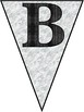 Charcoal and Marble Alphabet Banner Pennant